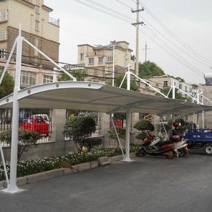 骁彩自行车棚 自行车停车棚 车棚 钢结构