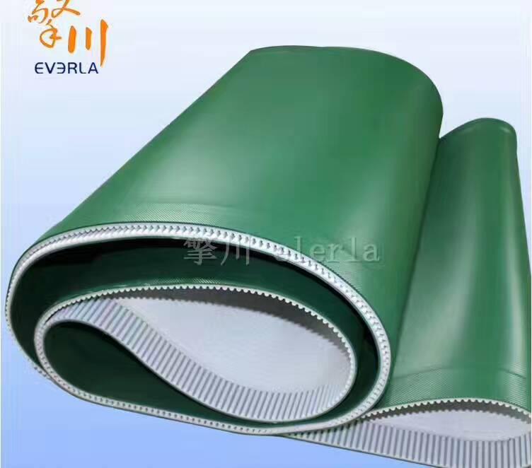 供应绿色钻石纹输送皮带PVC花纹 绿色钻石纹输送皮带PVC花纹  表面PVC钻石纹,底加pu同步带
