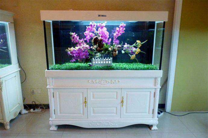 白色欧式鱼缸简欧鱼缸 水族箱 保定水族箱厂家 白色欧式鱼缸简欧鱼缸