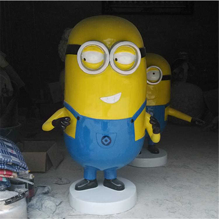 东莞雕塑厂/小黄人雕塑/玻璃钢小黄人/卡通动漫雕塑