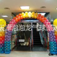天津商场节日气球布置气球拱门布置图片