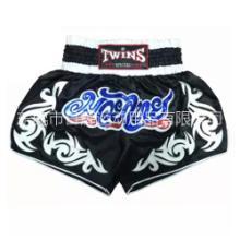 泰拳裤拳击比赛训练散打格斗搏击短裤武术2016黑色twins topking