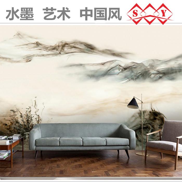 电视背景墙壁纸3d立体墙纸客厅风景墙布现代简约中式壁画卧室防水图片图片