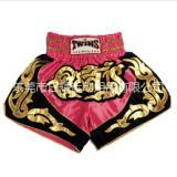 泰拳短裤男女 TWINS新款泰国 拳击裤 比赛散打格斗短裤粉色