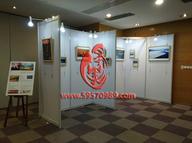 上海个人摄影作品展示板架摄影展布置出租展架