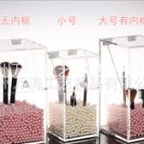 透明亚克力化妆刷具桶 化妆刷筒 收纳桶 高档彩妆刷桶 翻盖设计