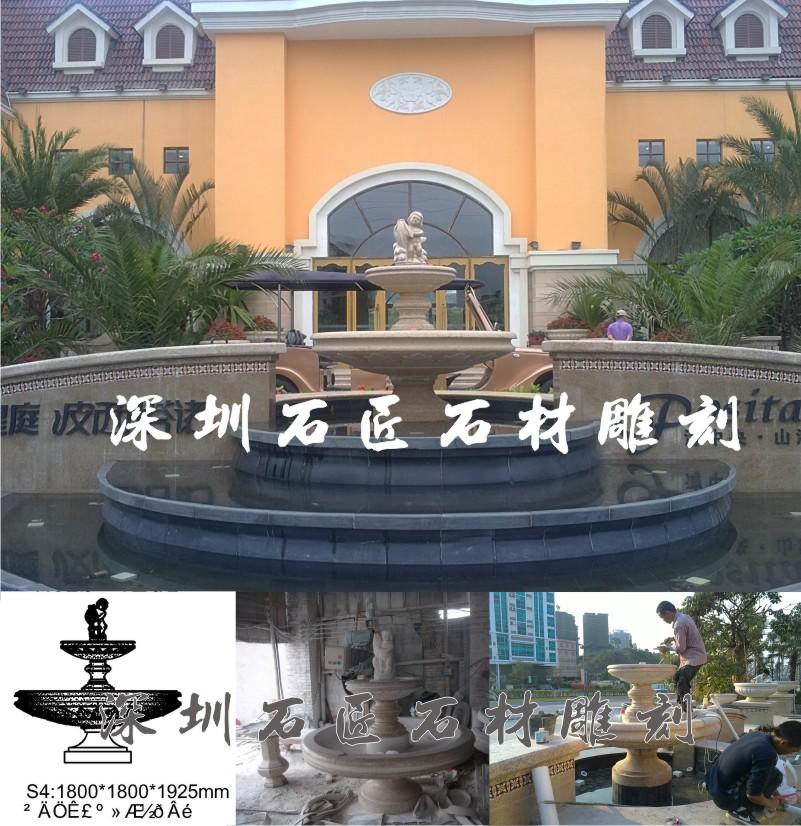 石匠石材水景园林景观艺术花岗岩石材喷水池雕刻福建惠安厂家直销可定制