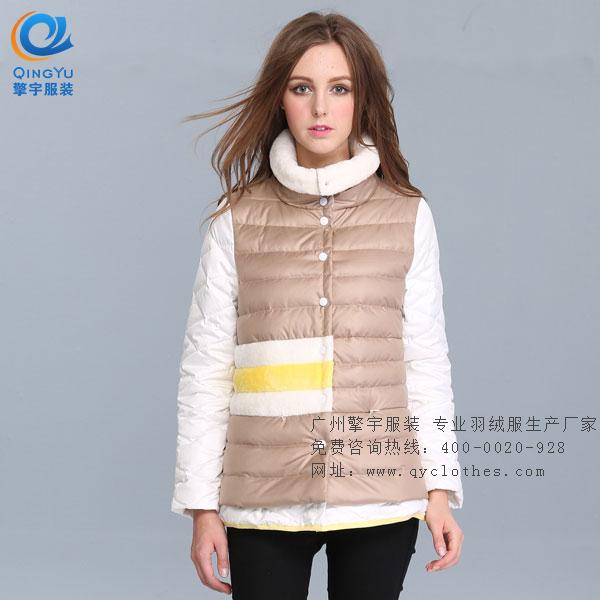 广东长款羽绒服厂家订做加工  专业羽绒服厂家供应商