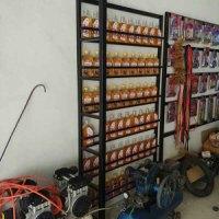 摩托车机油展示架定做,机油展架批发价格,机油展示架厂家
