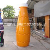 玻璃钢广告瓶雕塑|杨枝甘露广告雕塑|瓶子造型雕塑