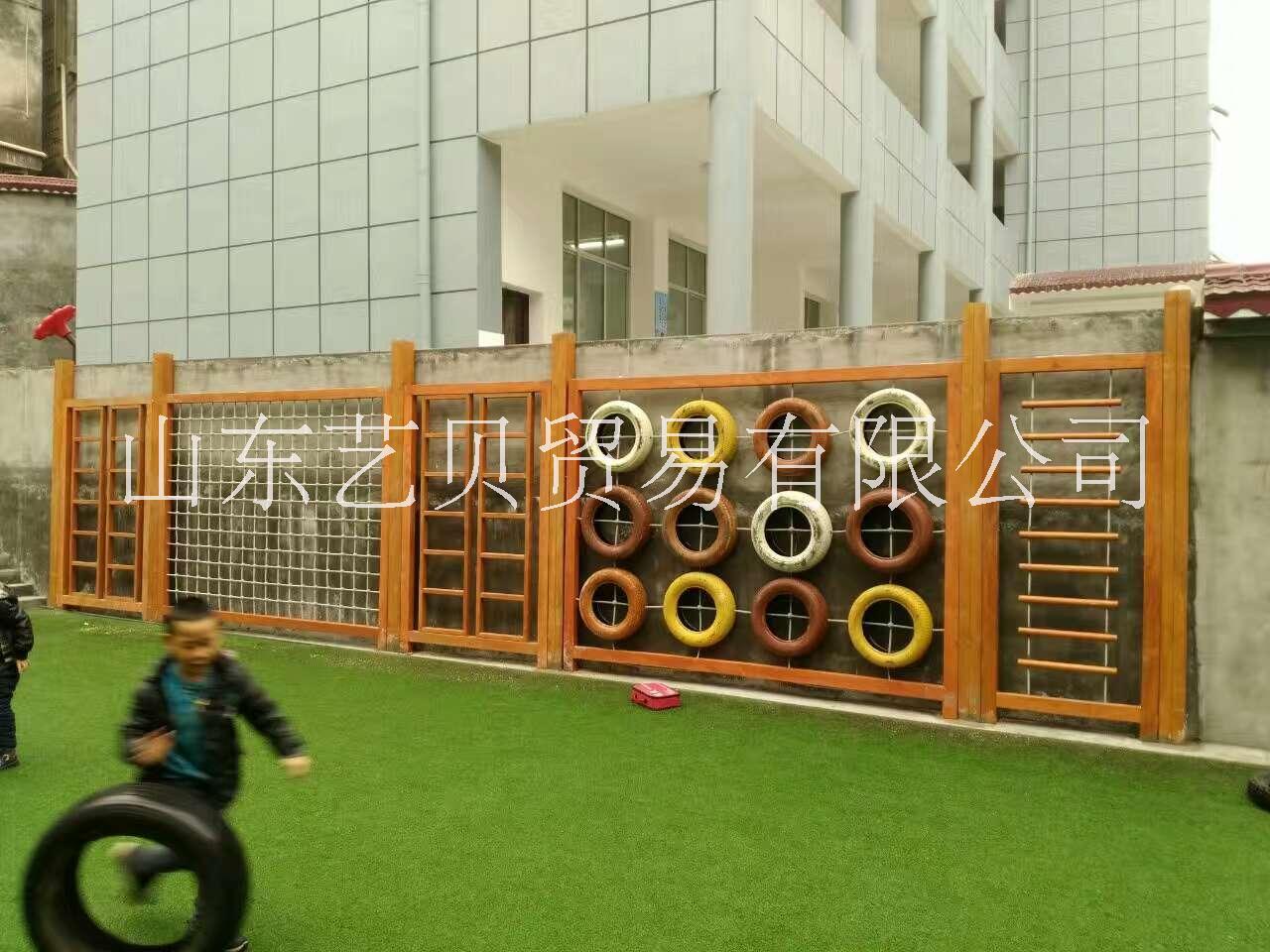 幼儿玩具 幼儿园防腐木玩具 积木 山东艺贝幼儿园玩具厂家