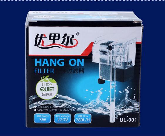 过滤泵增氧泵超静音瀑布式过滤泵外挂式鱼缸过滤器