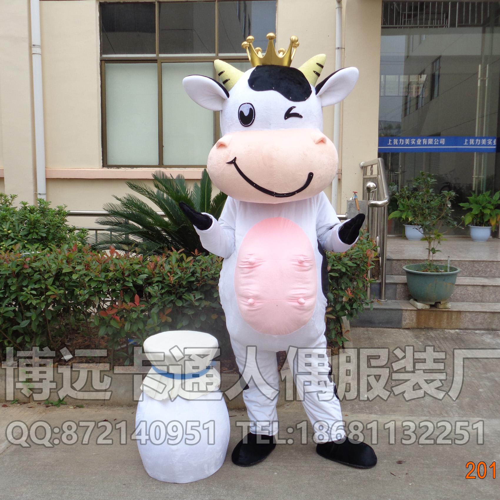 来图定做卡通人偶卡通道具服装奶牛动物模型人穿公仔
