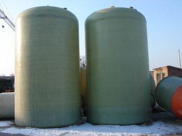 山东济宁梁山出售闲置40立方玻璃钢储罐10台  梁山10台40立方玻璃钢储罐转让