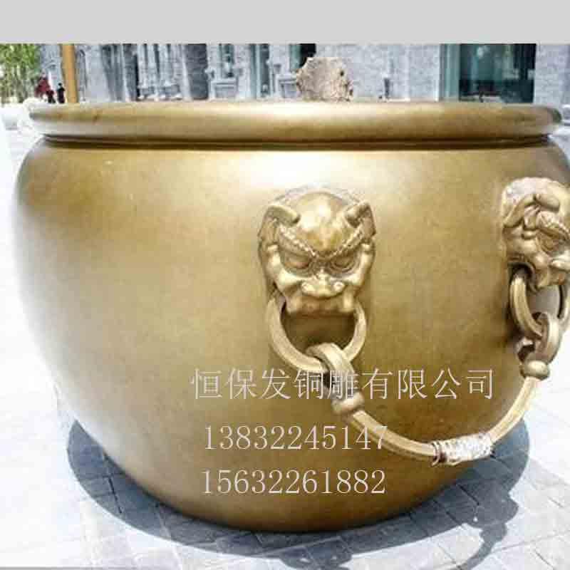 大铜缸 大铜缸定制价格 生产大铜缸厂家 哪里制造大铜缸 门口大铜缸摆件批发 小铜缸批发 铸造铜缸厂