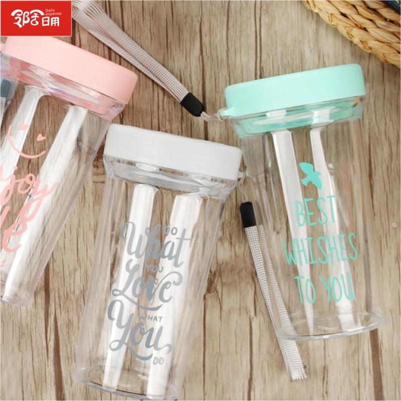 创意笑脸水杯 厂家定制LOGO促销水杯 广告礼品水杯 学生塑料水