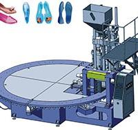 全自动圆盘式PVC单色水晶凉鞋机