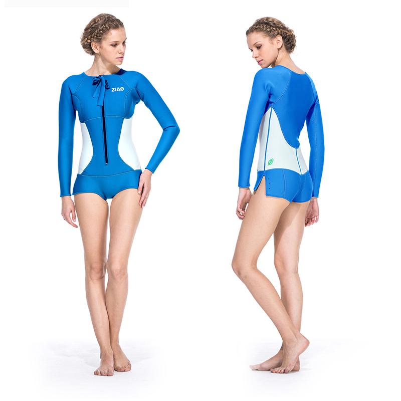 厂方直销子鳌新款女士2MM保暖泳衣