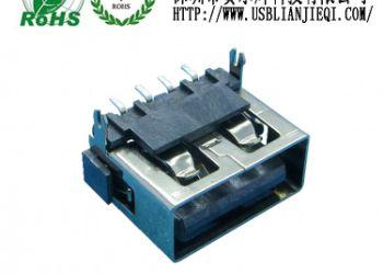 无卷边USB母座图片