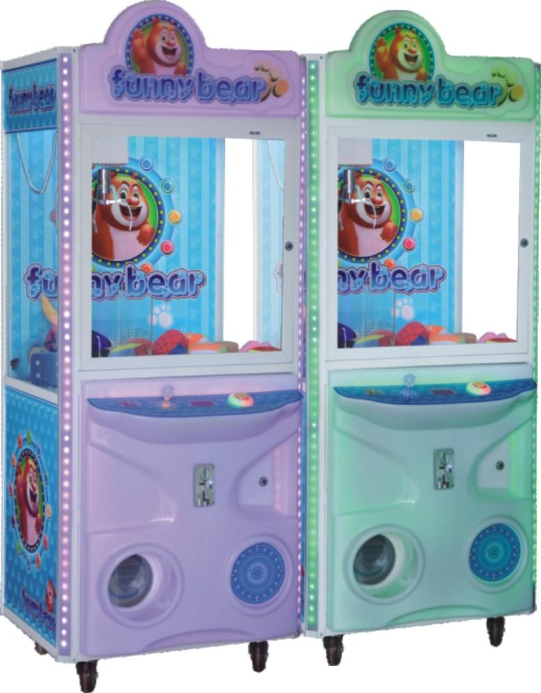 华顺奇趣熊娃娃机厂家室内儿童游乐设备娃娃机价格礼品机包邮