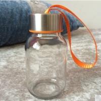 批发300ML玻璃杯定制 创意运动玻璃水杯便携 透明随手杯 可印