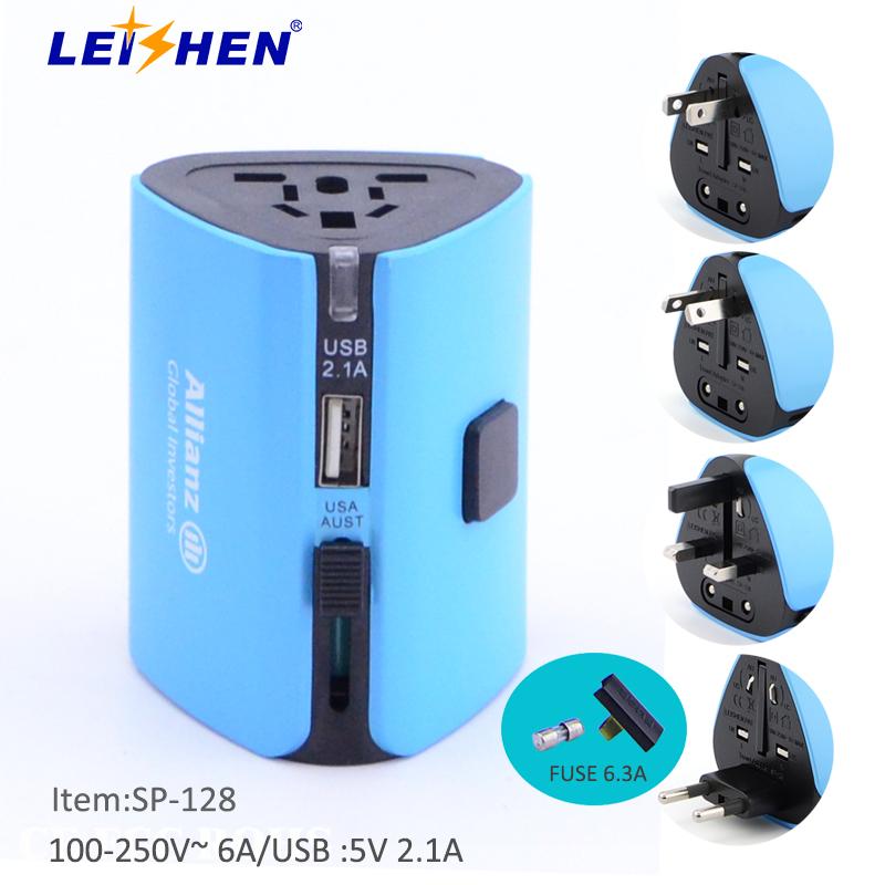 厂家批发转换插头旅行插座 USB多功能转换插头 航空礼品定制旅行转换插头插座