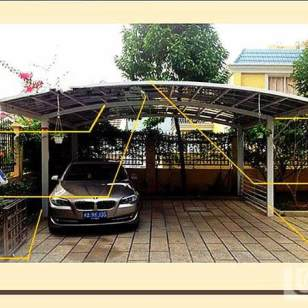 铝合金双车位车棚图片