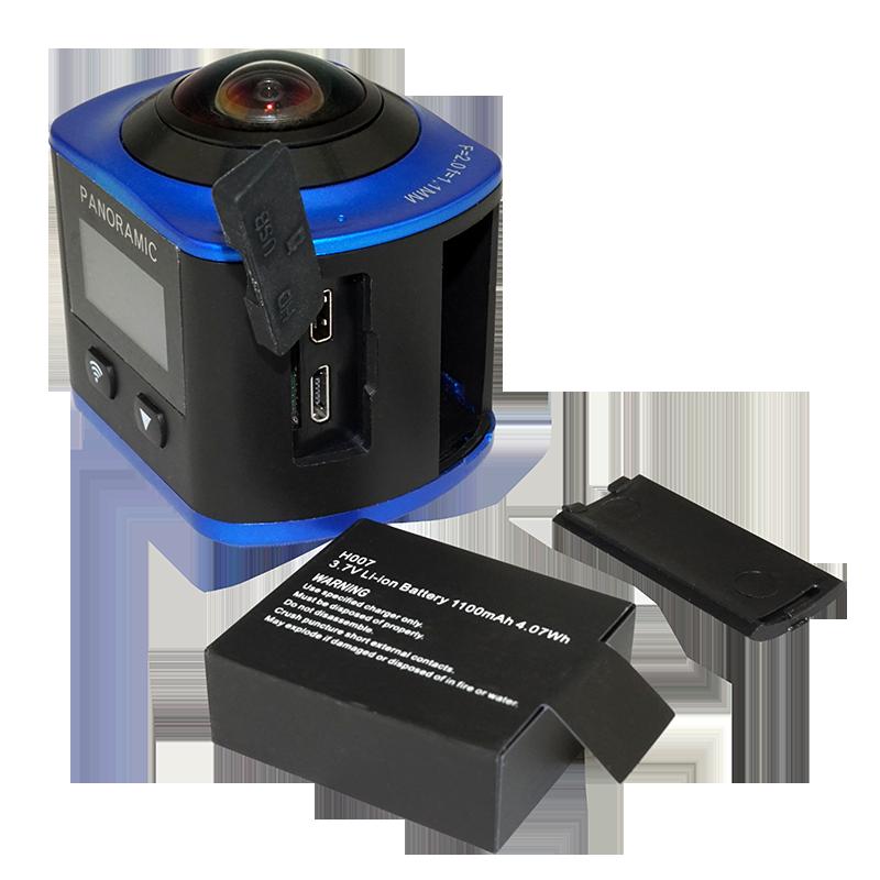 厂家直销360度VR 全景运动相 厂家直销360度VR全景运动相机