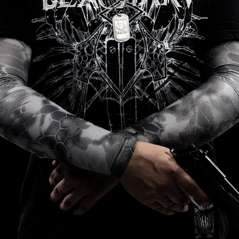 广州龙盾户外装备迷彩袖臂户外运动反恐战术迷彩防晒臂袖袖套定制批发