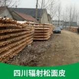 大量供应 四川辐射松面皮出售 园林古建筑寺庙木材原木 户外景观防腐木