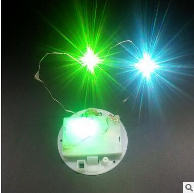 永生花LED灯串圣诞节七彩快闪铜线灯串配件机芯65mm电池底座