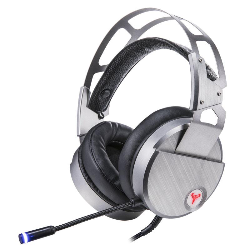 VK0 USB头戴式电竞发光耳机 网吧游戏耳麦重低音带话筒 速钛 VK0