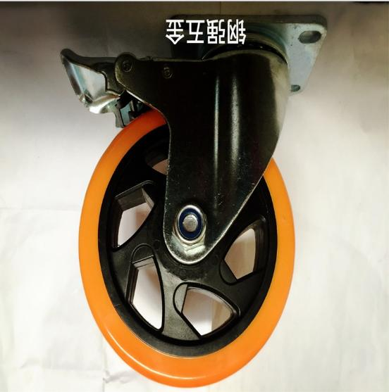 4寸活动pvc工业脚轮图片/4寸活动pvc工业脚轮样板图 (2)