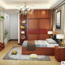 厂家直销简约现代卧室家具板式木床1.8双人高箱卧室储物床批发