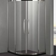 不锈钢淋浴房配件 方形双开玻璃门图片
