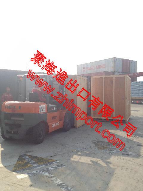 二手台湾龙门加工中心进口清关货运代理