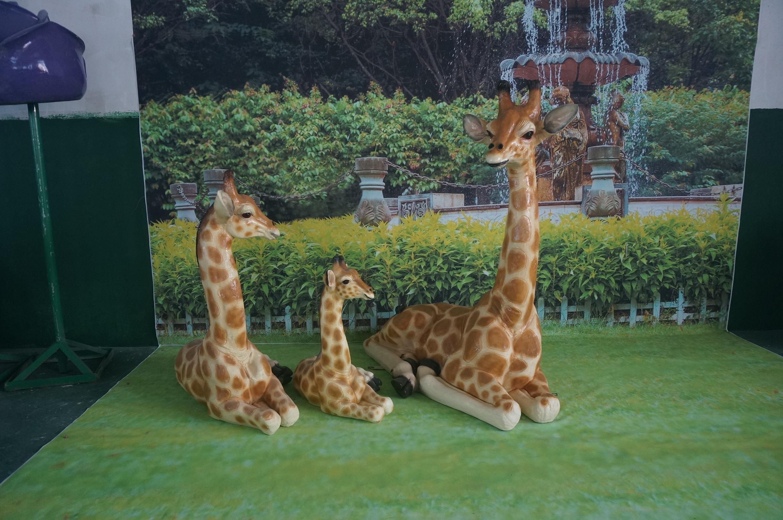 花园动物摆件供应商 长颈鹿
