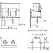 UL认证欧式接线端子KF126-5.0MM间距电源连接器图片