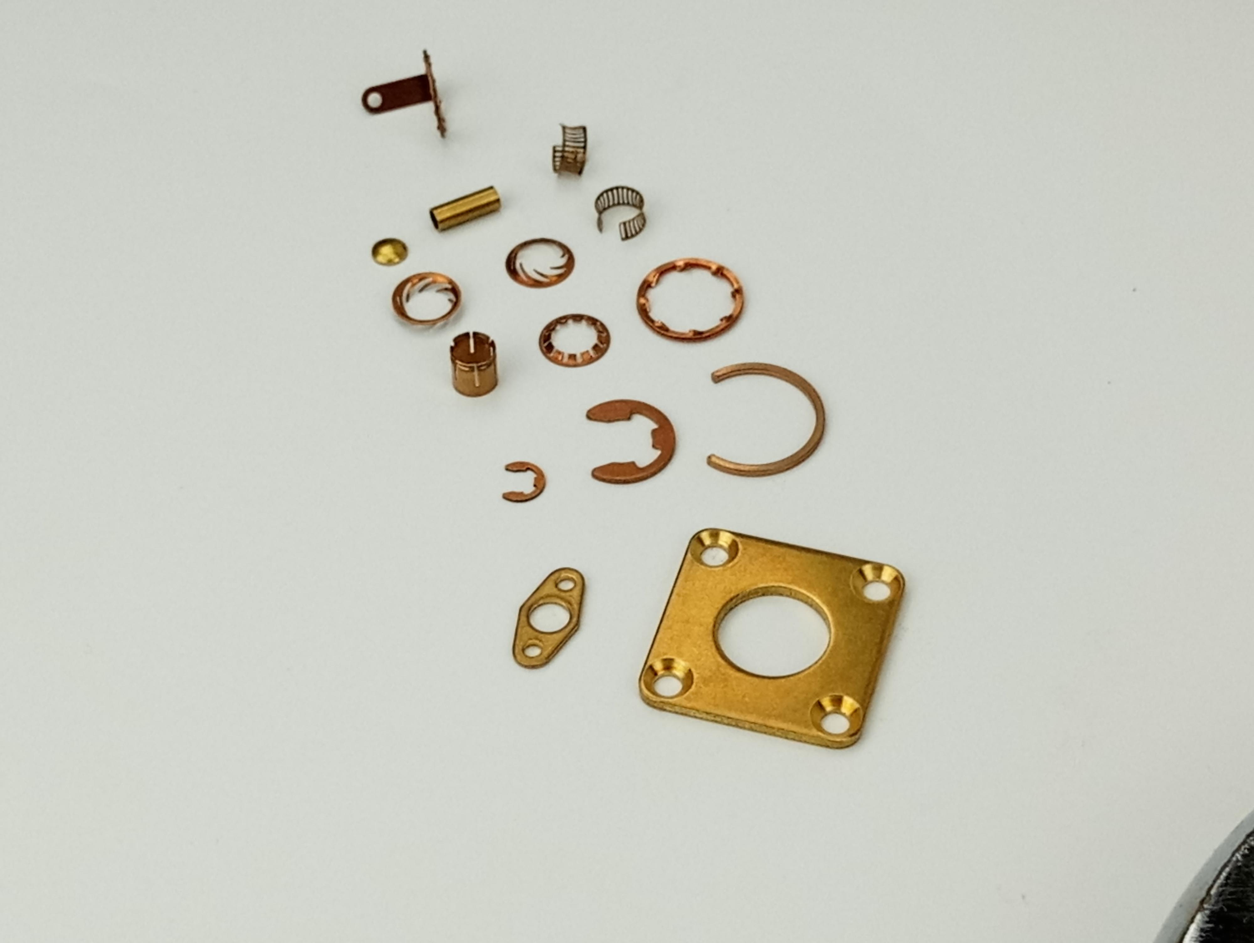 定制冲压件垫圈卡环簧套簧片焊片射频同轴连接器挡圈 定制冲压件内外卡簧卡环 国德美标铍青铜磷铜