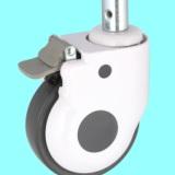 5寸医疗设备轮 插杆静音轮 医疗器械轮 脚轮 万向轮