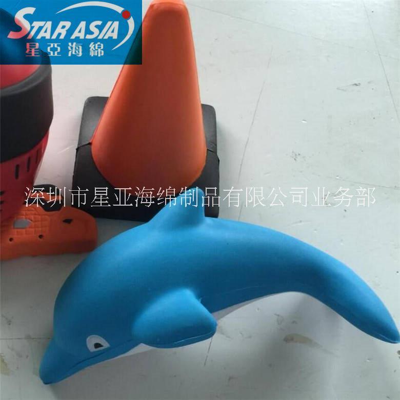 手感舒服软质海绵PU发泡海豚仿真玩具,装饰品海绵吊坠定做厂家热销