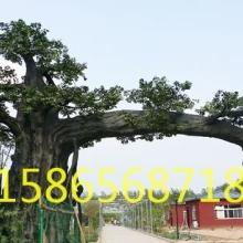 抚州假树大门 抚州生态园假树大门定做 江西假树大门承包施工