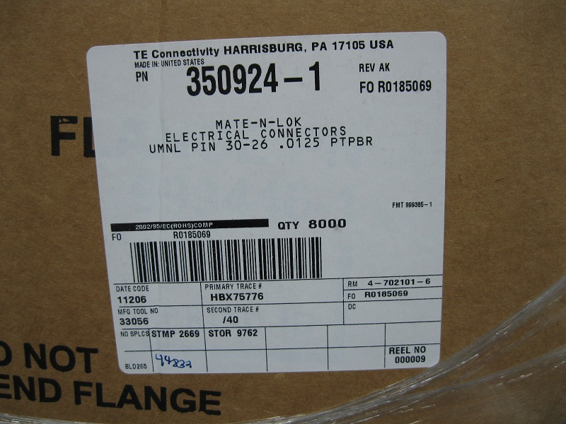 供应泰科TE进口连接器端子胶壳