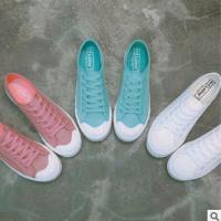 新款韩版透气帆布鞋女学生百搭休闲鞋灯芯绒低帮帆布鞋平跟布鞋