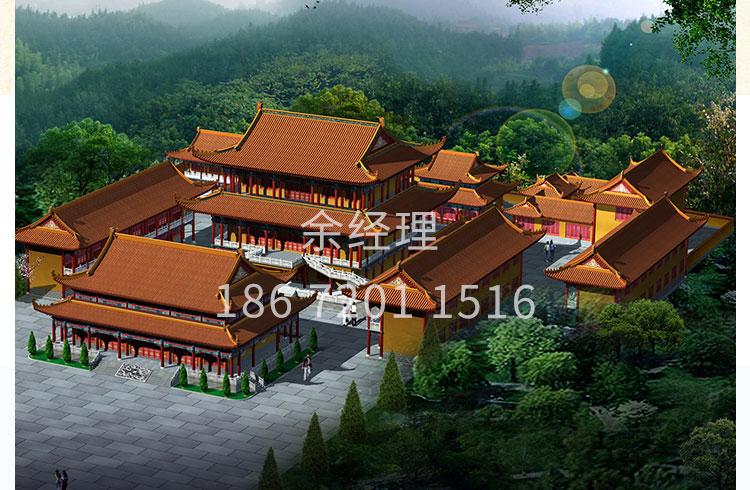 湖北古今阁园林景观工程寺庙规划设计仿古庙宇古建大雄宝殿设计施工