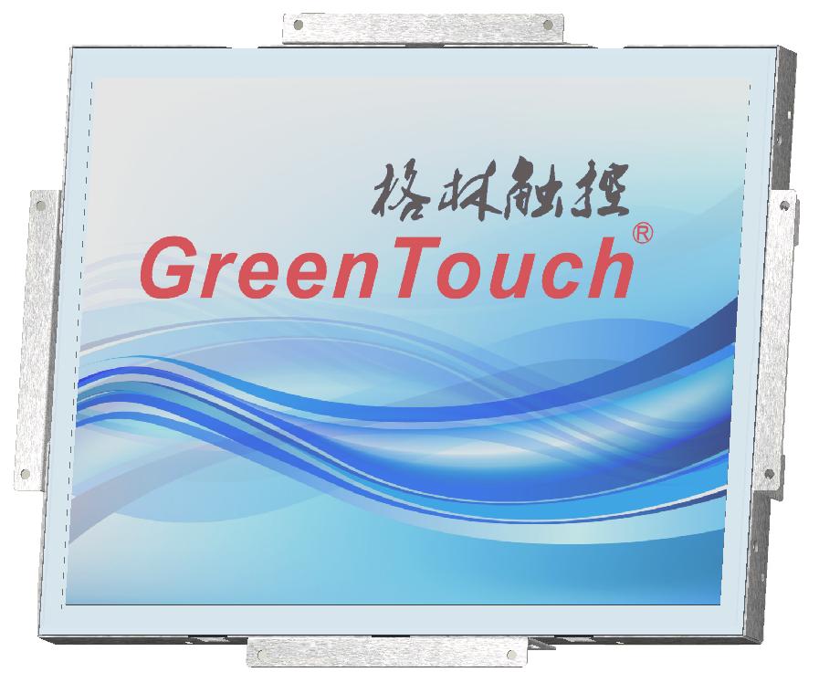 15寸工业级电阻式触摸显示器 15寸工业级电阻屏触摸显示器