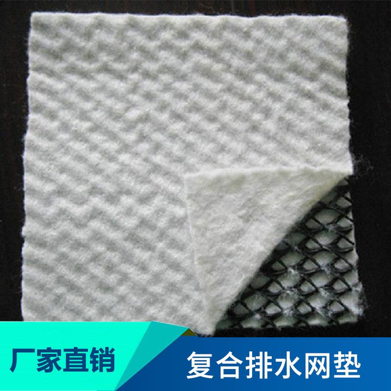 新型土工合成材料复合排水网垫三维土工复合渗排水网垫厂家直销