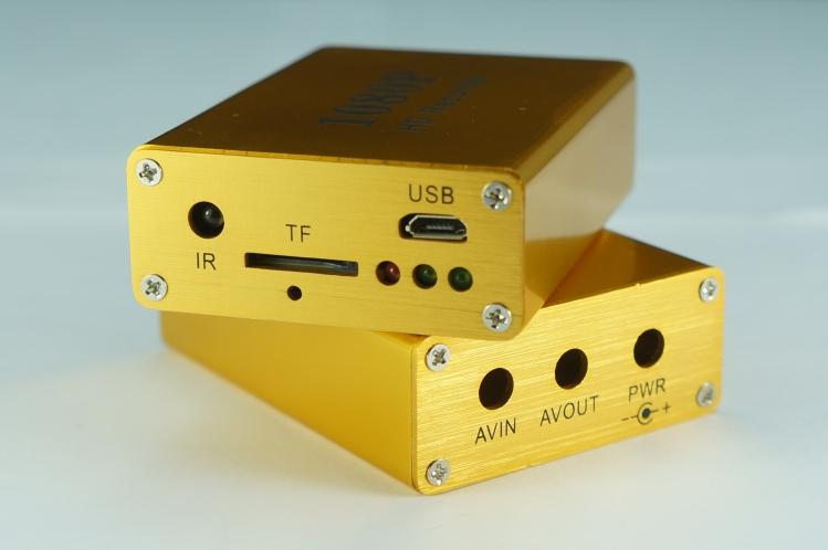单路AHD录像机同轴TVI车载DVR高清1080P微型录像机SD卡迷你DV分体式行车记录仪