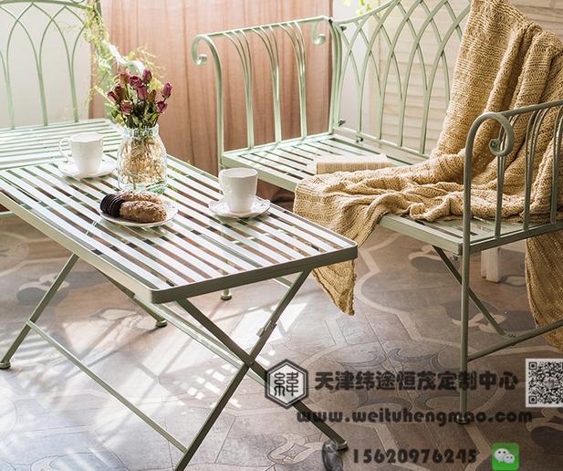 天津铁艺户外桌椅  藤编户外桌椅 实木户外桌椅 天津户外桌椅厂家