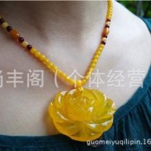 天然蜜蜡雕花项链吊坠 日本天然蜜蜡雕花项链吊坠